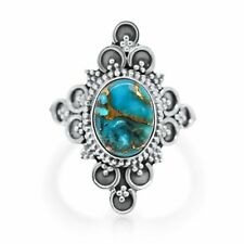 Cabochon Blue Copper Turquoise Ring