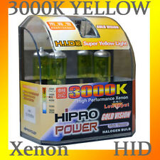 H4 3000K GOLDEN YELLOW XENON HID HALOGEN HEADLIGHT BULBS FOR LOW / HIGH BEAM