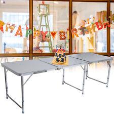 Table pliante de camping de jardin pliable en aluminium portable 180x60x70cm