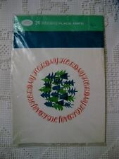 VINTAGE HOLIDAY CHRISTMAS TREE PAPER PLACE MATS PKG/24 KVP SUTHERLAND PURITY