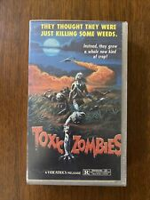 Toxic Zombies Vhs - Videatrics 1984 Horror Cult Rare Cover cut to fit case