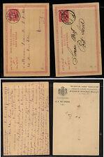 Egypt  2 postal cards, one overprinted   used        EXL0331
