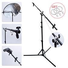 "Multi Function 125cm 49"" Reflector Holder/Boom Arm/Crossbar + 185cm Light Stand"