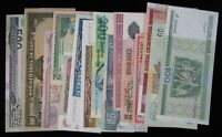 15 Different Mixed Foreign World Banknote Currency Paper Money Lot #277