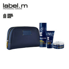 Label M Men Hair Care Grooming Kit Shampoo, Cream, Deconstructor Wax Gift Set