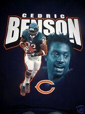 MENS CHICAGO BEARS CEDRIC BENSON -BLACK T SHIRT-L