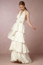 BHLDN Billie Wedding Dress Jill Stuart Ivory Gown Formal Wedding Beach NWT 0