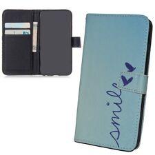 Schutz Hülle für Apple iPhone 6s Smile Blau Tasche Case Cover Leder-Imitat Etuis