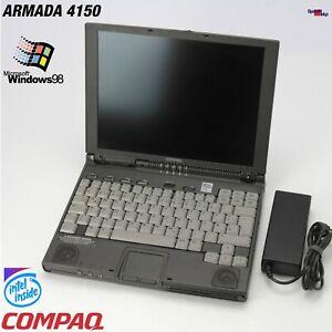 Retro Notebook Compaq Armada 4150 Pentium 150MHZ Mmx Laptop Windows 95 98 Cdrom