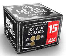 AK Interactive #AKI-RCS015 Real Colors: IDF AFV  Paint Set