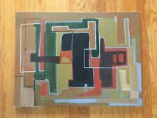LISTED ARTIST painting ABSTRACT modernist Dr. Benjamin Gross EXPRESSIONIST 1993