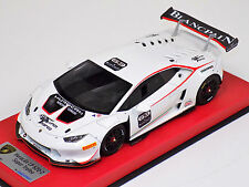1/18 Looksmart MR Lamborghini Huracan S.Trofeo Bianco #63 Sepang 2014 Leather