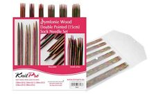 "USD KnitPro Set Double Pointed Needled 15cm/6"" Symphonie Wood 20651"
