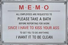 Witziges Schild über Körperhygiene am Arbeitsplatz..., Metallschild, Hängeschild