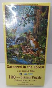 Suns Out 100 Pc Gathered In The Forest Liz Goodrick Dillon Puzzle Sealed New