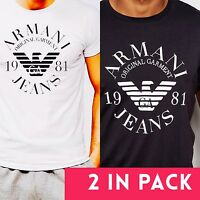 Emporio Armani T-shirt White & Black 2 in Pack- M,L,XL