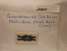 QUARTERMASTER SEA SCOUTS PLASTIC BACK PURPLE KNOT (ODD) F3077
