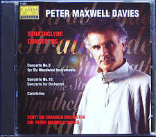 Peter MAXWELL DAVIES Strathclyde Concerto No.9 10 Carolisima Serenade CD Collins