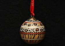"""Halcyon Days Animal Print Holiday Tree Bauble Porcelain Ornament 4"""""""
