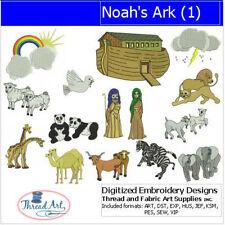 Embroidery Design CD - Noah's Ark(1) - 14 Designs - 9 Formats - Threadart