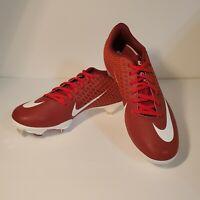 Nike Lunar Vapor Ultrafly Elite 2 Mens A07946-601 Red & White Baseball Cleats 7