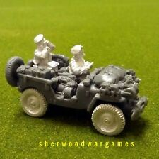 28mm British Para Command Jeep #1, in berets, BNIB, for WWII Bolt Action,