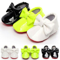 Newborn Infant Toddler Baby Boys Girls Shoes Moccasin Big Bowknot First Walker