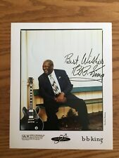 B. B. KING Signed 50th Anniversary Promotional Photograph, GUARANTEED AUTHENTIC