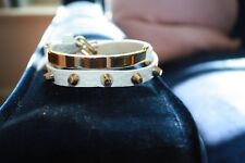 Jules Smith Stud & Bar Leather Wrap Bracelet - White