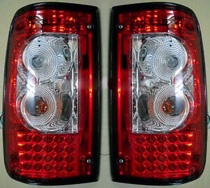 TAIL LAMP REAR LIGHT FIT TOYOTA HILUX MK3 SMOKE RED LN RN 1989-97