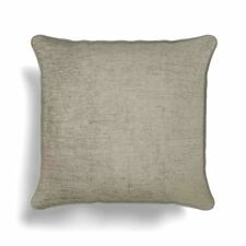 "Plain Chenille Cream Piped to Match Curtains 18"" - 45cm Cushion Cover"