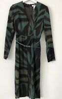 Max Mara Giglio Patterned Green Belted Sheath Work Dress, 44,  8 $995