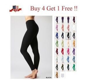 HIGH WAISTED PREMIUM Cotton STRETCH LONG WORKOUT YOGA LEGGINGS PANTS FITNESS