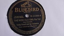 Teddy Powell - 78rpm single 10-inch – Bluebird #B-11089 The Wise Old Owl
