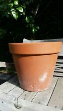 Large round terracotta garden pot planter