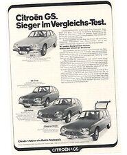 Historische Reklame - vintage adverts -  CITROEN - GS - Reihe  - KONVOLUT - Lot