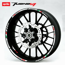 Aprilia rsv Tuono V4 wheel decals stickers set rim stripes v4r Laminated