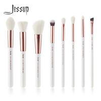 Jessup 8pcs Rose Gold Classic set Foundation Eyeshadow Brush Tool Makeup Brushes