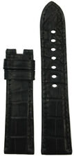 22x20 XL RIOS1931 for Panatime Black Alligator Watch Band BS For Panerai Deploy