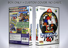 MARIO KART 64. JAPAN VERSION. Box/Case. Nintendo 64. BOX + COVER. (NO GAME).