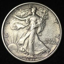 1917 Walking Liberty Half Dollar CHOICE AU+/UNC FREE SHIPPING E317 RNL