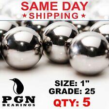 5 Qty 1 Inch G25 Precision Chrome Steel Bearing Balls Chromium Aisi 52100