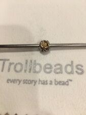 Trollbeads Flower Bead Charm Sterling Silver 925 And 18k Gold