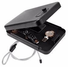 Hand Gun Pistol Safe Lock Box Cash Jewelry Security Metal Portable Car Travel US