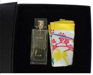 LALIQUE NILANG GIFT SET 3.3 OZ WOMENS PERFUME & SCARF NEW IN BOX u22901