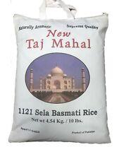 Taj Mahal  1121 Sela White Basmati Rice Naturally  Aromatic, 10 Lb, Exp 10/2022