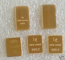 any x  1 gm bar gold .999 pure gold  24 ct pure gold