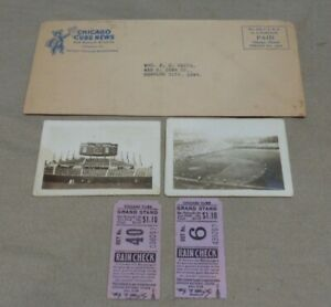 Vintage 1940's Chicago Cubs Ticket Stubs Photos Envelope