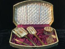 Vintage Pereline Vanity Set in a Satin Case