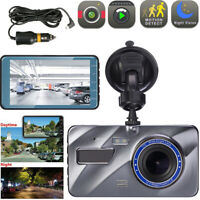"4""inch HD 1080P Dual Lens  Screen Car DVR Dash Cam Recorder+Rear View Camera Kit"